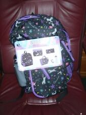 """6 pcs - Magical UNICORNS Large 17"""" BACKPACK + LUNCH Bag + Pencil & Tablet Cases"""