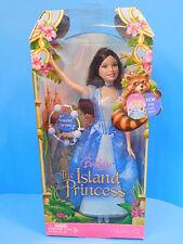 Barbie Island Princess Doll Maiden in Blue Dress Brunette NEW