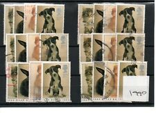 GB - Commemoratives - 1990 - Six sets - Cats  - Commercially used