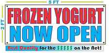 Frozen Yogurt Now Open Banner Sign New Larger Size Best Quality for the $