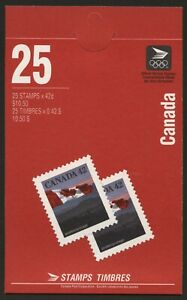 Canada 1991 SB151 25 x 42c (flags) Booklet Complete & Unmounted #M001