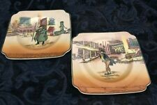 Royal Doulton Dickens Ware~Two Plates~ Mr Pickwick and Tony Weller # D6327