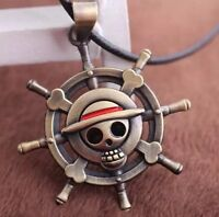 "One Piece Anime Helm Logo Mark Alloy Necklace Pendant 1.5"" US Seller"