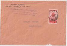 ITALIA 1954 25L PINOCCHIO  ISOLATO SU LETTERA   DA  PISTOIA X DISTRETTO