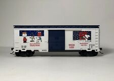 "HO Scale 40' Boxcar ""Charlie Brown/Snoopy Christmas"" Advertising custom"