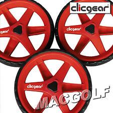 Original Zubehör für ClicGear Golf Trolley - Wheel Kit Rot - 3 Ersatzräder