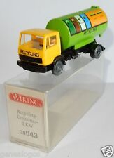 WIKING HO 1/87 CAMION MB MERCEDES LKW CITERNE RECYCLING CONTAINER IN BOX b