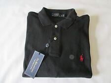 NWT RALPH LAUREN black soft 100% cotton cotton polo shirt - Men's Size M