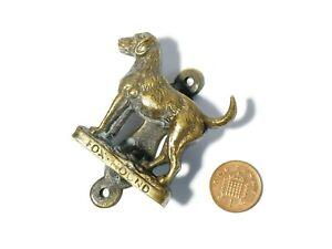 Antique Fox Hound Dog Shaped Brass Door Knocker