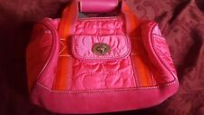 Coach Signature Quilt Quilted Top Handle Pouch Hot Pink Fuchsia limited edition