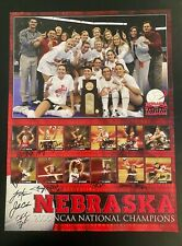 NEBRASKA HUSKERS 2006 VOLLEYBALL HAND SIGNED NCAA NATIONAL CHAMPIONSHIP POSTER