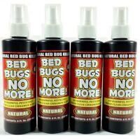 4 Bed Bugs No More Natural Insect Killer bedbugs 8oz Pump Spray