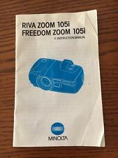 Original Minolta Riva (Freedom) Zoom 105i ~ Camera Guide Manual Instruction Book