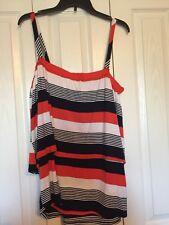 Cupio Women  Sleeveless Multi Color Knit Top Size L New