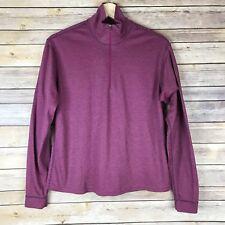 Patagonia Capilene Womens Zip-Neck Base Layer Top Pink/Purple Warm Soft Sz S