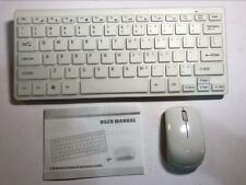 White Wireless Small Keyboard & Mouse for LG 55LA6970 55 3D HD LED LCD Smart TV