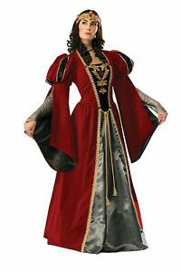 Queen Anne Medieval Royalty Lady Fancy Dress Up Halloween Deluxe Adult Costume