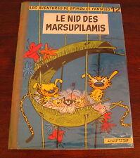 SPIROU ET FANTASIO LE NID DES MARSUPILAMIS  FRANQUIN NO 12 EO 1960 BON ETAT