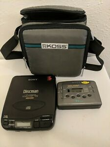 Sony Walkman WM-FX435 And Discman D-33 Carrying Case for Both Included,  Working
