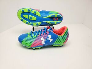 UNDER ARMOUR UA CF Force FG Soccer Cleats 1266884-405 Womans 6.5 Neon
