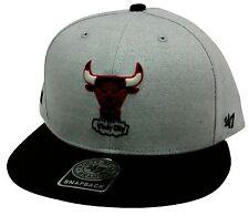 The 47 Brand Satchel Chicago Bulls Gray & Black Snapback NBA Basketball Bull