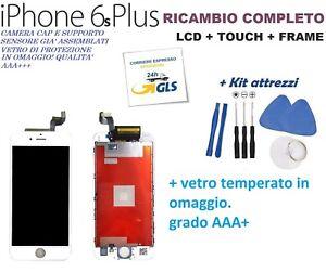 TOUCH SCREEN + LCD DISPLAY RETINA + FRAME PER APPLE IPHONE 6S PLUS VETRO BIANCO