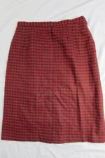 "Vtg 50s Womens Graff California Wool Plaid Skirt Hollywood VLV 29"" Waist Rare!"
