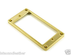 METAL HUMBUCKER RING LOW FLAT - GOLD FITS GIBSON & CHARVEL JACKSON MRML3GD