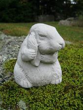 Rabbit Statue, Concrete Garden Rabbit, Preening Bunny Garden Statue, Rabbits