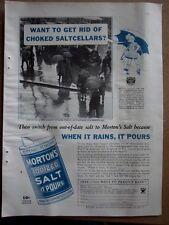 1934 Morton Iodized Salt Rid Choked Saltcellars Ad