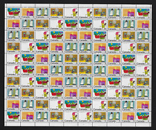 Canada — Full Pane of 100 — Christmas: stamps by School Children #519-523 MNH