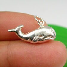 Whale Mammal Animal Charm Pendant Genuine 925 Sterling Silver - C2082