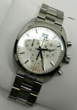 MOVADO Swiss Made Datron 40mm Chronograph Silver Dial Men's Watch 0606477