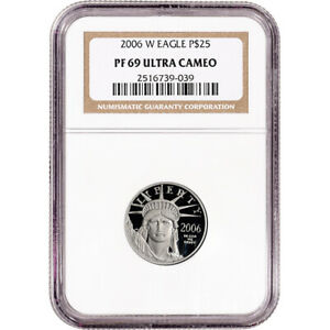 2006 W American Platinum Eagle Proof 1/4 oz $25 - NGC PF69 UCAM