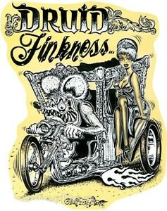 Druid Finkness STICKER Decal Hot Rod Art Von Franco VF41 Roth Like