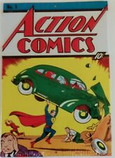Action Comics Superman No.1 Cover Vintage Retro Tin Metal Sign 7.8  x 11.5 inch
