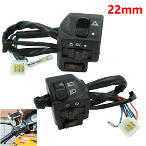 "Pair Motorcycle 7/8"" Handlebar Switch Left Right Side Control Switch Turn Signal"