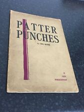 (Q)Rare Vintage Magic Trick Book Patter Punches By Sol Stone