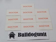 1965 Operation Board Game Lot of 10 Doctor Cards Replacement Parts Pieces