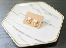 Handcrafted Elegant Korean Style Dangling Earring Heart for Women (White)
