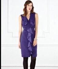 "BNWT "" Coast "" Size 18 Hudson Violet Evening, Party Wedding Dress (46 EU) Frill"