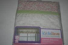 Sweet Dreams Neutral Bedroom Nursery Window Valance Pink, Green, Floral Kidsline