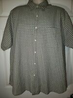 Faded Glory Mens Xl Grey Short Sleeve Button Front Shirt
