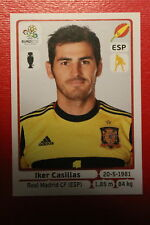 Panini EURO 2012 N. 287 ESPANA CASILLAS NEW With BLACK BACK TOPMINT!!