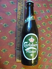 CARLSBERG PILSNER BEER 12 fl. oz. BOTTLE (empty) with CAP DENMARK