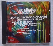 Sibelius: Humoresques; Ghedini: Violin Concerto; Musica da Concerto (CD, Jun-200