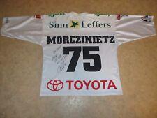 Kölner Haie U.S.Coastline Eishockey Trikot 2003/04 + Nr.75 Morczinietz Gr.M- L