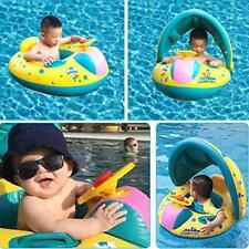 Baby Schwimmhilfen Schwimmen Ring mit Sonnendach und Rücksack mühelos aufbalsen