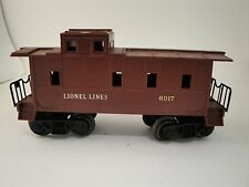 Vintage Lionel 6017-1 CABOOSE ORIGINAL BOX  Runs GREAT missing one set of steps