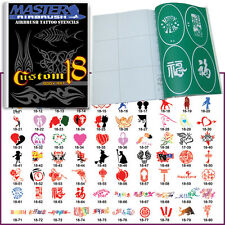 SET 18 BOOK 80 Reusable Airbrush Temporary Tattoo Stencil Art Designs Templates